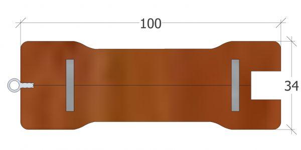 100er Rahmenprofil mit Griffmulde, Kanten gerundet