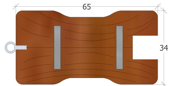 65er Rahmenprofil mit Griffmulde, Kanten gerundet